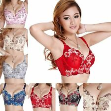 Fashion Women Sexy Underwire Lace Bra Push Up Brassiere 34 36 38 Cup Size B C D