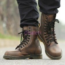 Mens Retro Vintage Lace Up Military Rock Punk Combat Motorcycle Boot Chic Shoes