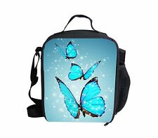 Womens Girl Butterfly Insulated Lunch Bag Travel Picnic School Food Storage bags