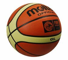 MOLTEN FIBA APPROVED BGL COMPETITION BALLS 12 PANEL LEATHER BASKETBALL SIZE 6-7