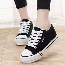 NEW Womens Fashion Lace Up Flat Heels Classic Canvas Shoes Sneakers US9 Size