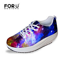 Galaxy Women's Shape Up Wedge Swing Shoes Ladies Platform Sneakers Trainers