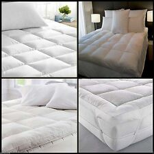 Mattress Topper Duck Feather & Down Luxury Extra Thick Box Constructed Stitched