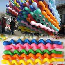 50Pcs /10 Colors Giant Latex Rubber Helium Spiral Balloons Wedding Birthday