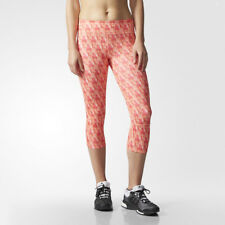 Adidas Supernova Womens Pink Climalite Capri Running Tights Bottoms Pants