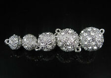 Set Crystal Rhinestone Strong Magnetic Connector Clasp For Bracelet Necklace Cra