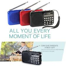 Mini Portable LCD Digital FM Radio Speaker USB Micro Fr SD Card Mp3 Music Player