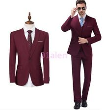 Mens Chic Tuxedo 3 Piece Wedding Groom Dress Formal Suits Coats Pant Vest Jacket