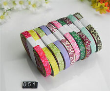 """10/20yards3/8""""mixed 10style sewing . satin grosgrain ribbon lot wholesale A-51"""