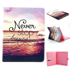 Flip Folio Painted Leather Wallet Stand Case Pouch Skin Bag For Various Tablet F