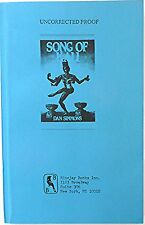 DAN SIMMONS: SONG OF KALI. 1st EDITION; 1985. UNCORRECTED PROOF