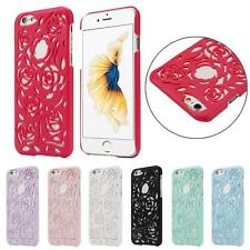 Hollow Out Case Rose/Pearl Flowers Back Case Cover Skin Case For iPhone 6S