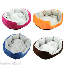 Removable Warm Soft Fleece Puppy Pet Dog Cat Bed House Basket Nest Mat S