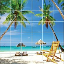 Stickers tile wall deco Island paradise 1869