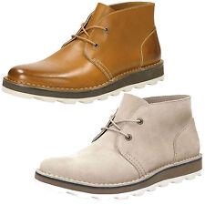 MENS CLARKS LACE UP SUEDE CASUAL LIGHTWEIGHT DESERT ANKLE BOOTS DARBLE MID