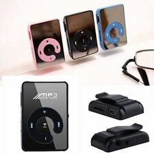 Mini Mirror Clip USB Digital Music Mp3 Player Support 8GB SD TF Card 5 Colors