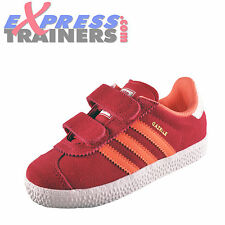 Adidas Originals Gazelle 2 Velcro Infants Toddlers Girls Trainers Pink