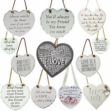 Shabby Chic Heart Love Mother Family Bedroom Dog Cat Home Plaque Gift Door Signs