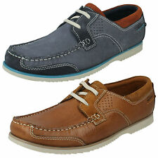 MENS CLARKS TAN BLUE NUBUCK CASUAL LACE UP BOAT SHOES KENDRICK SAIL