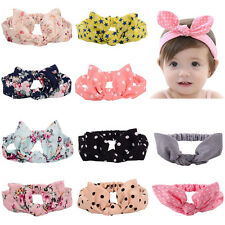 Fashion Baby Kids Girls Children Turban Rabbit Ears HairBand Knot Headband 2016