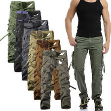 NEW Men's Combat Men's Cotton Cargo ARMY Pants Military Camouflage Camo Trousers