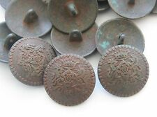 New Military Metal Royal Crest Copper Tone Buttons sizes 7/8, 11/16, 13/16  AM4