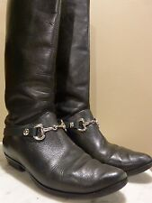 """Pair Leather English Riding Boots Embellishments """"NO SPURS""""™ with Snaffle Bit"""