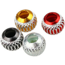 Multi-Color Alloy Metal Charms European Big Hole Beads Fit Bracelet DIY Jewelry