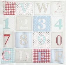 "Fryetts ABC Patchwork Fabric Blue 16"" Cushion Cover"