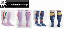 Sock It To Me Women's Knee High Wide Calf STRETCH IT Socks – Assorted Designs