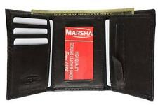 Genuine Leather Mens Tri-Fold Wallet~ Black~Brown Trifold Bilfold Many Features!