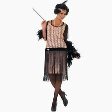 1920's Coco Flapper Fancy Dress Costume Set - 8,10,12,14,16,18 Plus Size