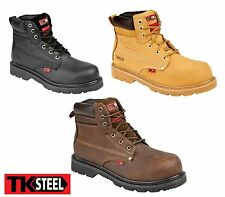 Safety Work Boots Steel Toe Cap & Mid Sole Goodyear Welted TK STEEL UK6-13