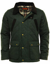 Mens GAME OXFORD British Made Quilted Wax Jacket - Olive