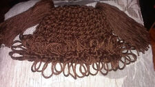 New Handmade Crochet Dark Brown Baby Cabbage Patch Inspired Hat Girl All Sizes
