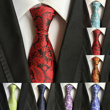 New 100% Silk Mens Party Tie Necktie Classic Paisley Floral JACQUARD WOVEN Style