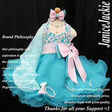 New National Pageant Baby Doll Dress Glitz Sea Green (Contect us for Size first)