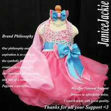 New National Pageant Baby Doll Dress Glitz Pink (Contect us for Size first)