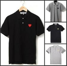 Unisex Japan style Men's CDG Polo neck Play Comme Des Garcons RED Heart T-shirts