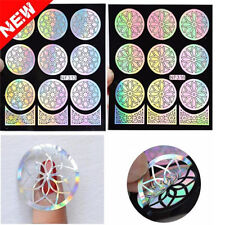 2016 1sheet Nail Art Vinyls Stamping Art Silver Hollow Flowers Nail Sticker Tool