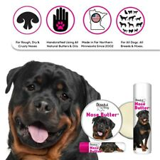 ROTTWEILER NOSE BUTTER® ALL NATURAL, HANDCRAFTED BALM DRY DOG NOSES TINS/TUBES