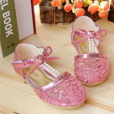 Fashion sandals for kids summer pearl shoes girls breathable lace flower sandals