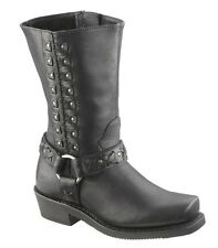 "NEW Harley-Davidson® Womens 9"" AUBURN Tall Black Leather Motorcycle Boots D85431"
