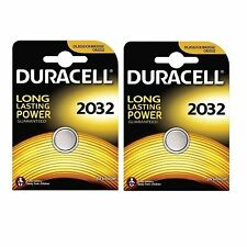 2 X Duracell CR2032 3V Lithium Button Battery Coin Cell DL2032 Expiry 2025