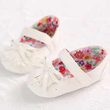 Cute Bow Baby Girls Infant Princess Tassel Flower Ankle Strap Crib Shoes 0-18M