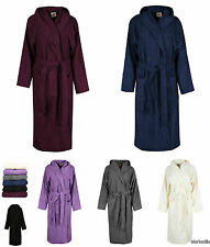 New Unisex 100% Egyptian Cotton Bath Robe Terry Towelling Hooded Dressing Gown