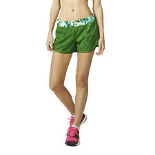 Adidas M10 Q2 Graphic Womens Green Climalite Running Shorts Pants Bottoms
