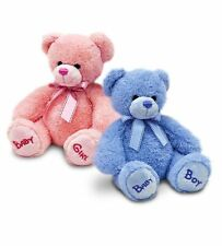 New Baby Gift Bobby Blue or Pink  Teddy Bear Plush Soft Toy by Keel 18 or 25 cm