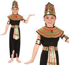 Childrens Egyptian Queen Fancy Dress Costume Egypt Cleopatra Outfit Girls Kids L