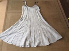 A silver grey per una sun dress size 14L ,linen and viscos